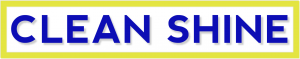 Clean Shine Logo in yellow, white and blue
